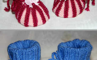 Пинетки-зефирки – пошаговое описание вязания крючком и на спицах