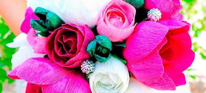 Цветы из гофрированной бумаги своими руками: пошаговый мастер-класс