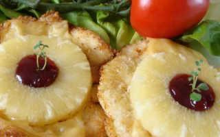 Курица с ананасами в духовке – как приготовить запеченную, жареную или тушеную по рецептам с фото