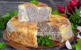 Фарш в лаваше в духовке: пошаговое приготовление выпечки с мясной начинкой с фото