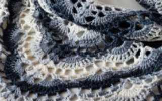 Бактус крючком – интересные и необычные идеи вязания ажурного шейного платка
