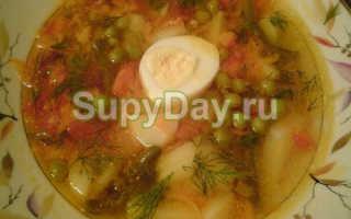 Суп с консервированным зеленым горошком: вкусный рецепт приготовления