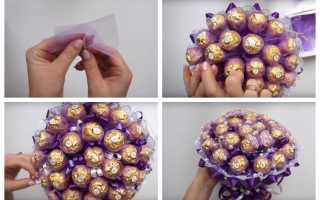 Букет из конфет своими руками пошаговый мастер-класс