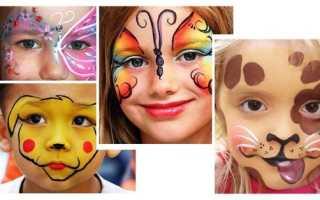 Рисунки на лице – как правильно подобрать краски для аквагрима, прикольные варианты фейсарта