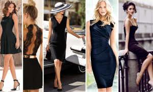 Маленькое черное платье (50 фото) — Модные варианты и новинки 2020