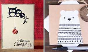 Открытки на Рождество своими руками: как сделать объемные из бумаги