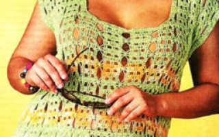Пляжная туника крючком – как вязать летнюю кофту для женщины, схема и описание модели