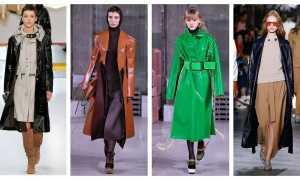 Халаты и винил: 35 самых модных моделей плащей этой осени!