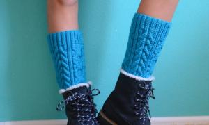 Гетры спицами – описание и схемы вязания с фото для начинающих девочек