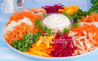 Салат Чафан – пошаговые рецепты приготовления с фото