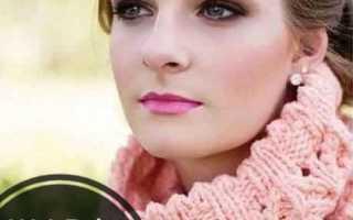 Как связать шарф-хомут спицами: описание