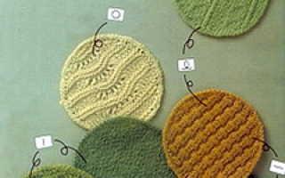 Условные обозначения петель при вязании спицами с описанием
