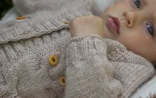 Кофточка для новорожденного спицами – вяжем грудничку одежду