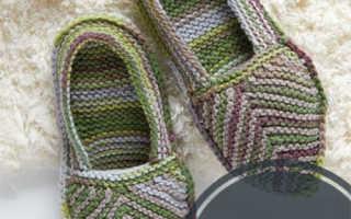 Следки на двух спицах без шва – вязание для начинающих с видео