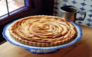Пирог из яблок в духовке просто и быстро