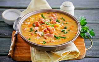 Суп гороховый с копченостями пошагово