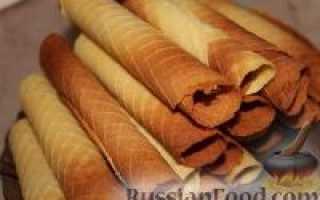 Вафельные трубочки – рецепт с фото для вафельницы