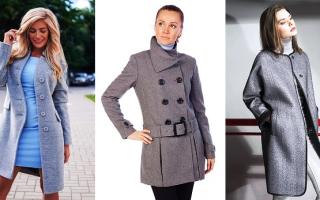 Серое пальто – обзор модных фасонов и как подобрать шапку, шарф или сапоги