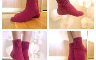 Вязание носков на 2 спицах пошагово с описанием