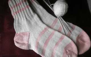 Как вязать носки на 5 спицах начинающим