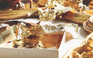 Сусальное золото – состав и толщина, как производят и технология нанесения на поверхности с видео