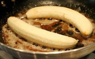 Жареные бананы – как приготовить десерт по вкусным рецептам с фото на сливочном масле