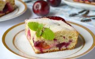 Пирог со сливами на кефире – рецепты приготовления в мультиварке и духовке