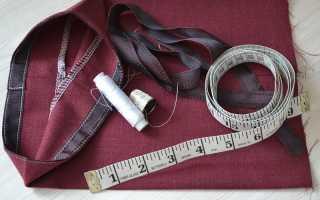 Как подшить брюки вручную и на швейной машинке с помощью ленты или потайного шва с видео