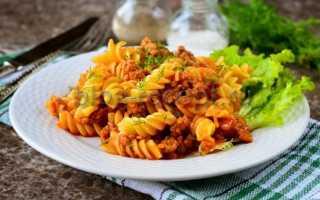 Фарш с макаронами на сковороде: как приготовить