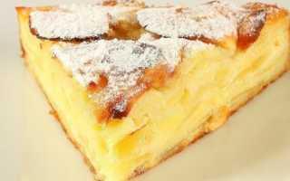 Пирог с яблоками в духовке вкусный, фото