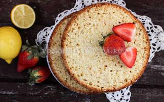 Бисквит на сметане для торта, фото