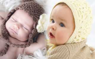 Чепчик спицами для новорожденного: схемы для начинающих