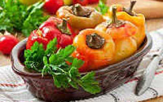 Перец, фаршированный овощами: приготовление с фото