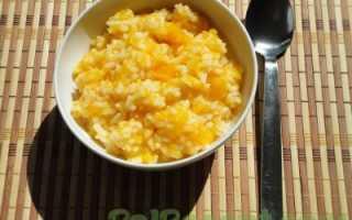 Рисовая каша с тыквой на молоке и воде