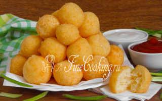 Сырные шарики – рецепты приготовления пошагово на закуску и жаренные во фритюре с фото