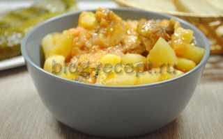 Тушеная картошка с курицей: как приготовить вкусное блюдо