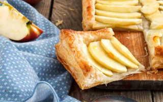 Как приготовить пирог из слоеного теста с яблоками