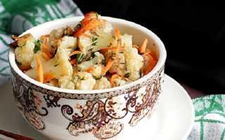 Цветная капуста по-корейски – пошаговые рецепты приготовления маринада и салата с фото