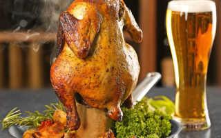 Курица в духовке на бутылке – вкусный рецепт приготовления тушки целиком на банке