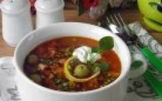 Суп солянка: приготовление