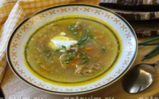 Суп из свинины домашнего приготовления